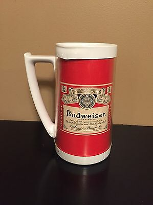 Vintage Budweiser Beer Thermo-Serv Insulated Plastic Mug Advertising Stein USA