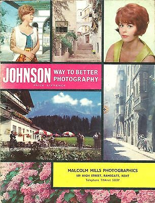 Johnson Way to Better Photography Catalogue mid-1960's 36 Pages