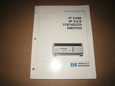 HP 8340B 8341B Synthesized Sweepers Operating Information Manual