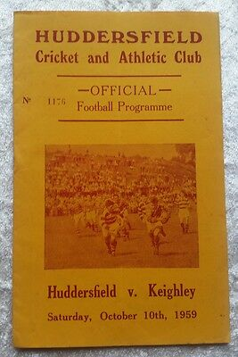 Huddersfield v Keithley Saturday October 10th 1959 Rugby League Programme