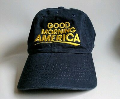 ABC Good Morning America Collectible Adjustable Back Navy Yellow Cap Hat