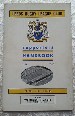 1966/1967 Rugby League Leeds Official Club Supporters Handbook