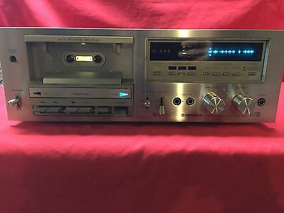 Vintage Pioneer CT-F750 Silver Cassette Deck For Parts or Repair