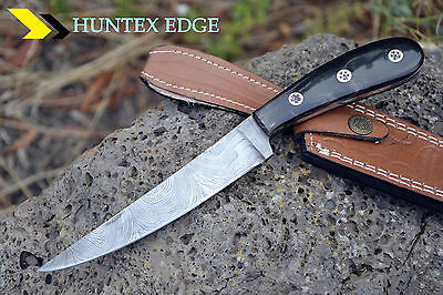 WILD Hand Made Damascus Steel Hunting Knife *** FILLET KNIFE***