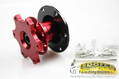 Car Auto Steering Wheel Quick Release HUB Adapter Snap Off Boss Kit Red