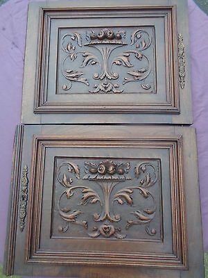 antique french carved wood salvaged doors