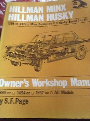Hillman Minx Series I To V - Hillman Husky Series I to III  -WORKSHOP MANUAL