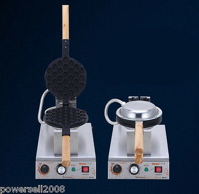 New 1400W EGG Thicken Commercial Non Stick Plates Waffle Maker Stainless Steel