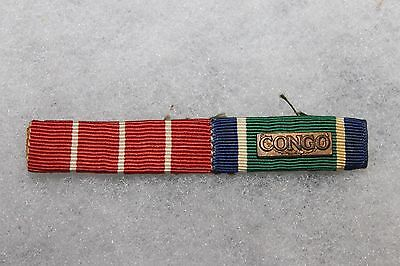Original Canadian Military Two Place Ribbon Bar Set for Service in the Congo