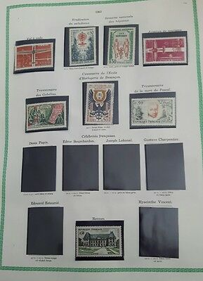 timbres 1962 neufs