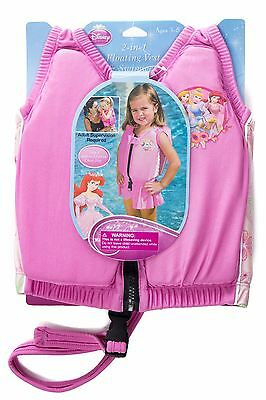 Princess Swimming Jacket Kids Float Child Training Vest & Swimwear - Small 3-5