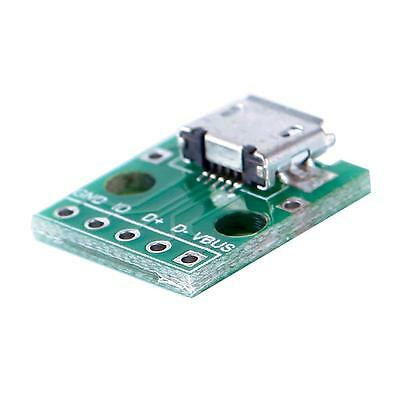 Durable MICRO USB To DIP Adapter 5pin Female Connector Pcb Converter
