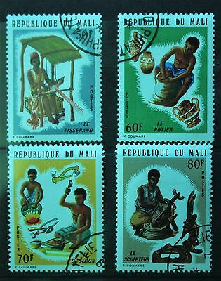 Mali 1974. Crafts and Craftsmen. Set of 4. S.G.450-453. Used.