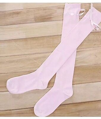 Regency Style Pink Cotton Stockings SALE PRICE