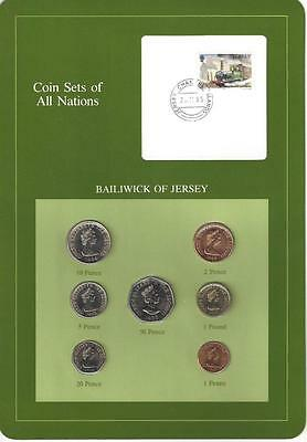 Coin Sets of All Nations - Bailiwick of Jersey, 1985 Train Stamp