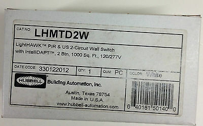 (1) Hubbell Lhmtd2W Lighthawk Pir & Us 2-Circuit Wall Switch With Intellidapt