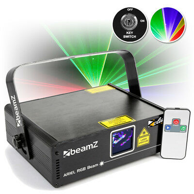 BeamZ Ariel Full Colour Red Green Blue DMX DJ Laser w/ IR Remote Control 350mW