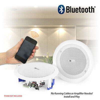 Flush Ceiling Speakers 60W Wireless Bluetooth Audio Streaming Home Audio Kitchen