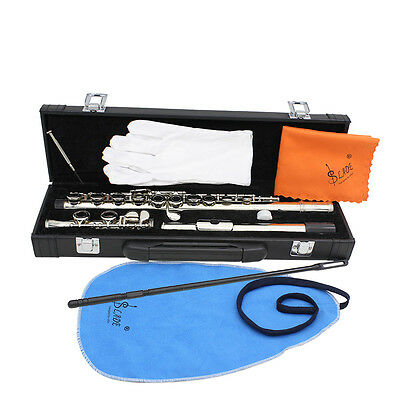 C Flute 16 Keys Hole Silver With Case PERFECT FOR SCHOOL
