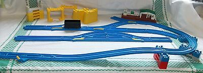 Blue Plastic Tomy Tomica Trackmaster Train Track Junctions lots Supports Bundle