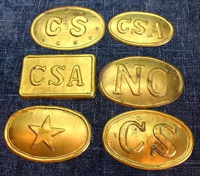 Stamped Brass Replicas Civil War Buckles & Box Plates CSA Confederate Texas NC