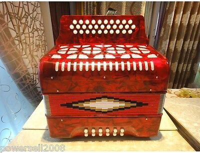 French Blues Series Diatonic Scale 31 Keys 12 Bass Red Accordion