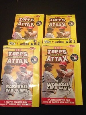 TOPPS Attax 2010 - Baseball Card Game Starter Packs - 4 x sealed boxs  (G30