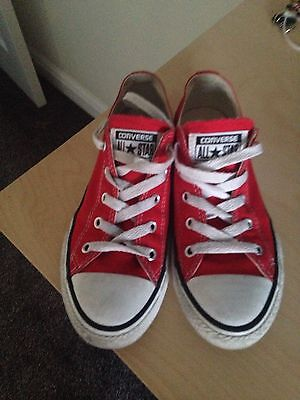 Unisex Red Converse Size 2