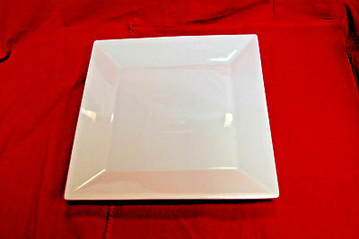 "12 - CAC China KSE-16 Bright White Square Core 10"" Porcelain Plate NEW (#S7105)"