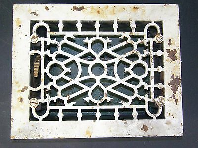 Antique Ornate Cast Iron Floor Grille Heat Grate Register 6x8 Milwaukee Wis.