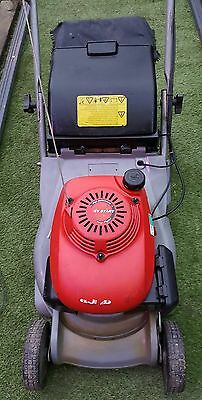 Honda self propelled petrol lawn mower with rear roller