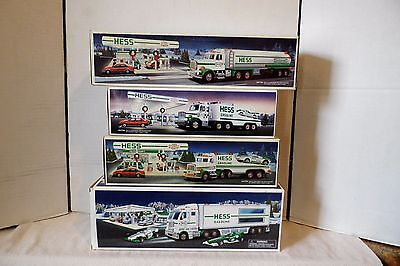 4 Hess Trucks Vehicles Mint In Boxes 1988  1990 1991 & 2003