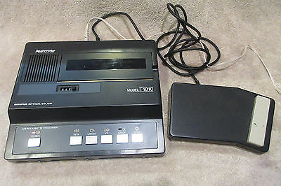 Olympus Pearlcorder Microcassette Transcriber Player T1010 w Foot Pedal -WORKING