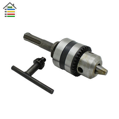 "Hammer Drill Chuck1.5-10mm Adaptor Thread 1/2""-20UNF Rotary Tool For SDS Plus"