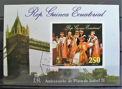 EQUATORIAL GUINEA - 1977 25th Anniversary of Queen Elizabeth II  CTO    # 170106