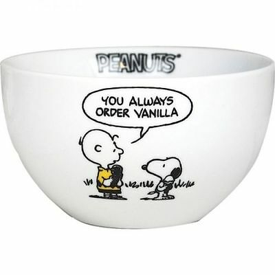 Peanuts Snoopy Bowl - I Am A Purist Stoneware Cereal Breakfast Soup