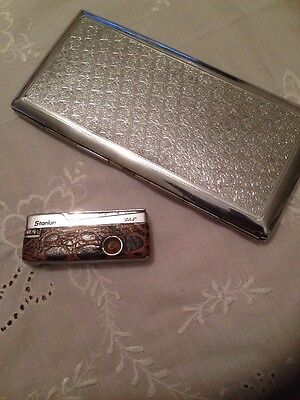 VINTAGE Lighter Catseye By Starlon And Cigarette Case 1960'S-70'S