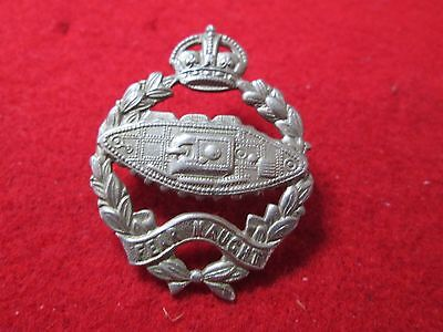 WWII KC British Tank Corps 'Fear Naught' Badge