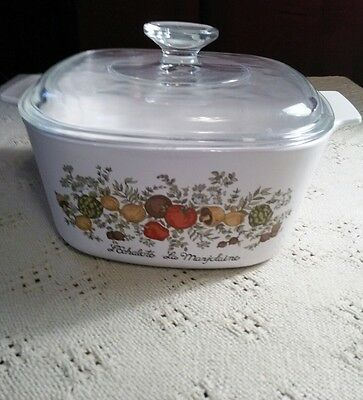 "Vintage Corning Ware ""Spice of Life"" Casserole Dish with Lid # A-1-B"