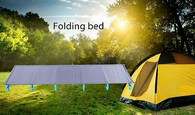 250lbs Capacity+1.5kg Folding Sleeping Bed Camp Cot Tent Mat Hiking Guest Travel