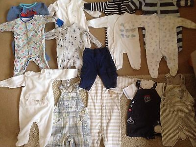 17 Items Most Next 0-3 M Baby Boys Tops, Sleepsuits Dungarees Trousers Some New