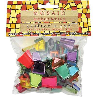 Crafters Cut Colored Mirrors 1/2 Pound/Pkg-Assorted 638799952738