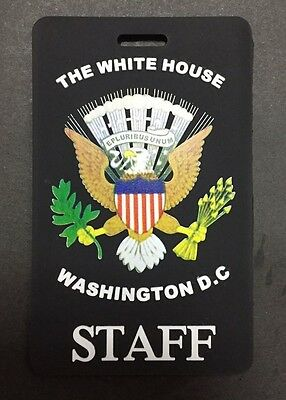 Colored Presidential Seal, Black White House Staff Luggage Tag (Set Of Two Tags)