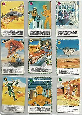 SPAIN Star Wars HERACLIO Droids/ Ewok game cards (1986) pack of 33 cards