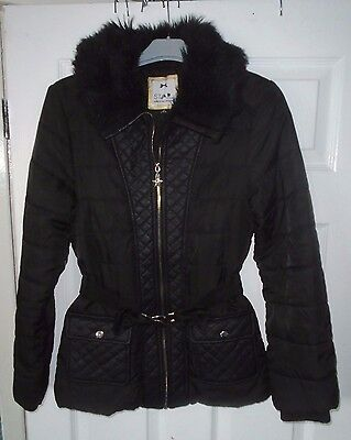 STAR BY JULIEN MACDONALD Black Padded Long Sleeve Coat Age 13-14 Years