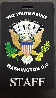 Colored Presidential Seal,black, White House Staff Luggage Tag (Set Of Two Tags)