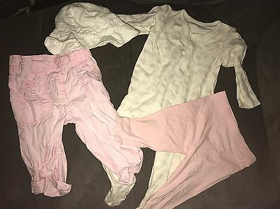 Baby Girl Bundle Next And George Sleepsuit Outfit 6-9