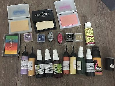 job lot of inks for crafts, card making, scrap booking, embossing, dyeing, stamp