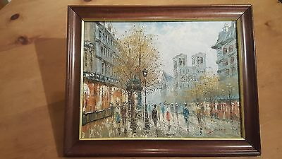 C.Burnett Oil Painting in Wooden Frame. EXCELLENT CONDITION.  Ready to Hang