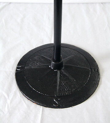 """20"""" FLOOR WEATHER VANE STAND~Heavy Black Cast Iron with N-S-E-W Compass Letters"""